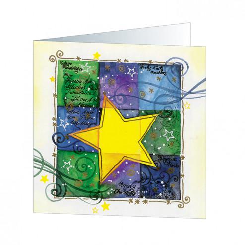 Star on Squares goldgeprägt (5249)