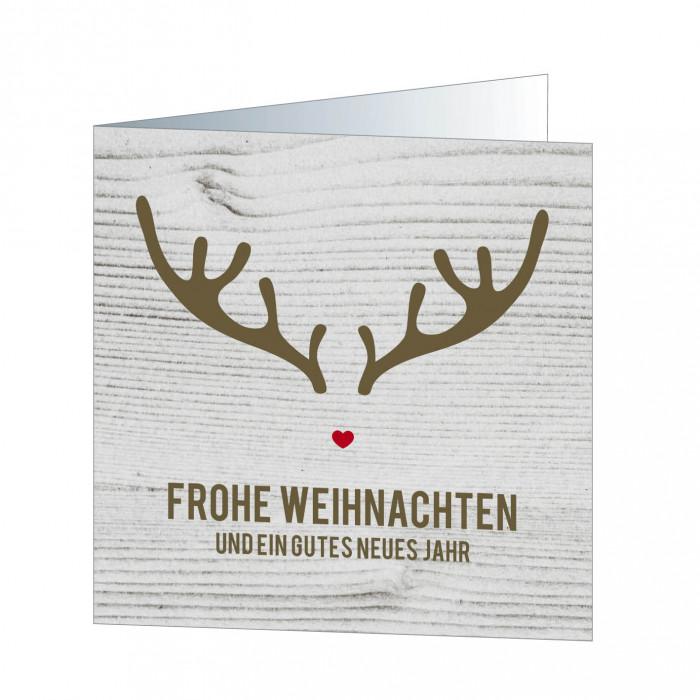 Holz Weihnachtskarten.Rentier Holz 5775 Weihnachtskarten Quadratisch Weihnachtskarten
